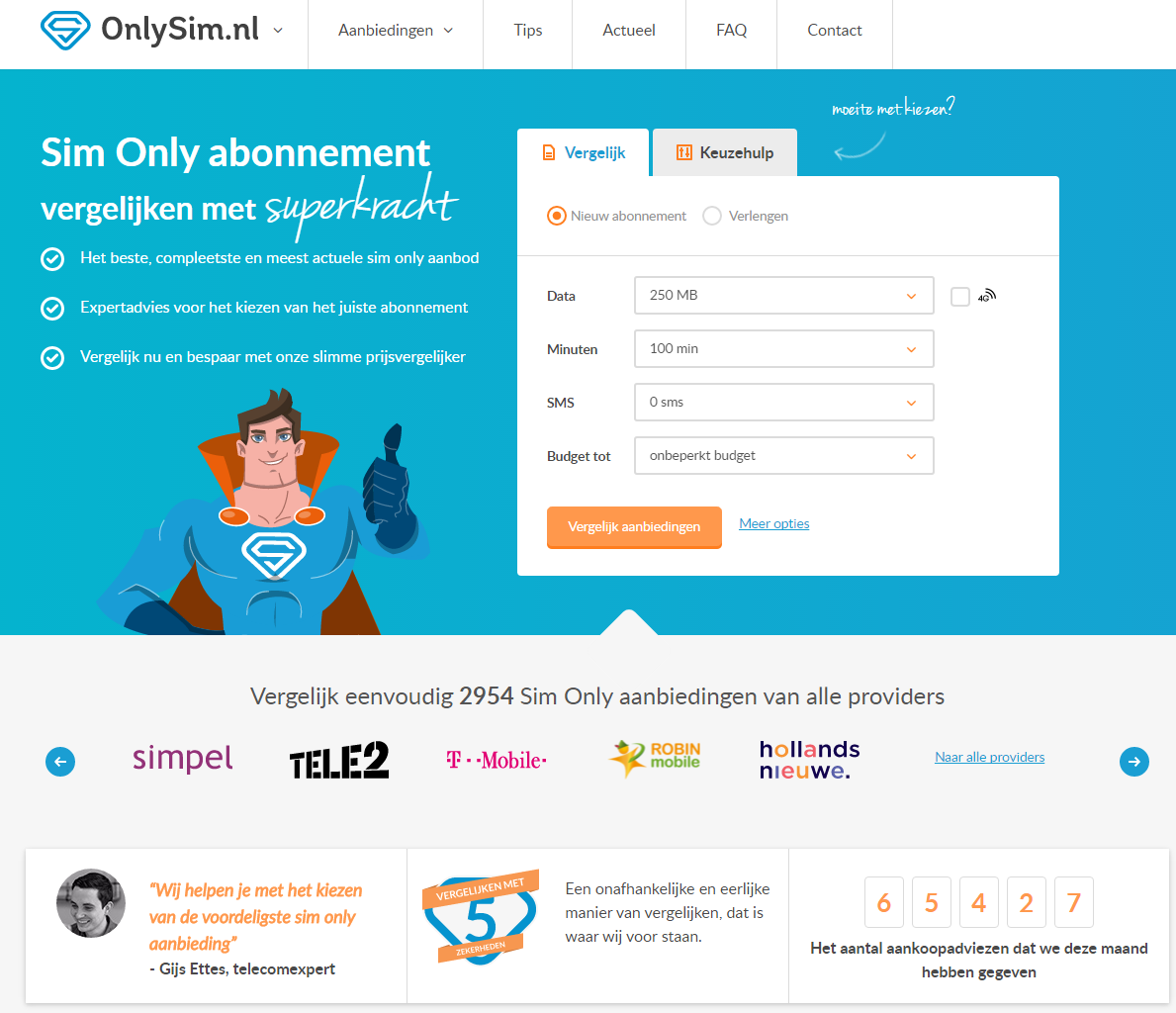 OnlySim.nl screenshot